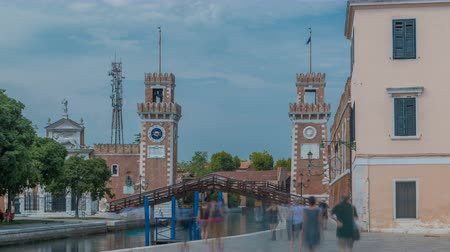 munitions : Entrance to the Arsenale timelapse, Venice, Veneto, Itlay