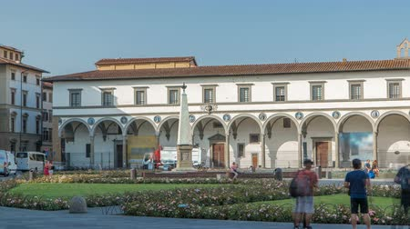 santamaria : View of Public Square of Santa Maria Novella timelapse - one of the more important public squares in Florence.