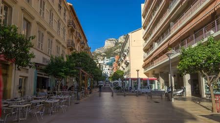 estrutura residencial : Beautiful old architecture style of residential buildings in the old city center timelapse hyperlapse in Monte Carlo in Monaco