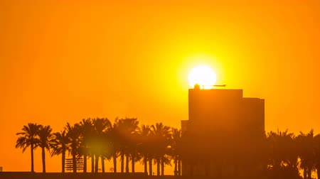 mosque doha : Sunrise from Al Corniche waterfront timelapse in Doha