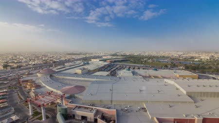 aspire : Aspire park and mall from top timelapse in Doha, Qatar