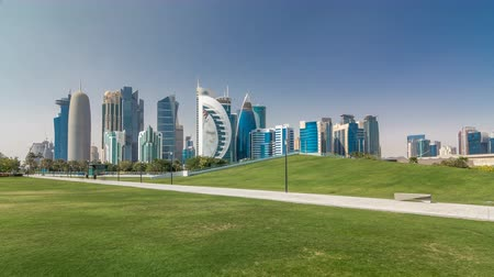 sheraton : The high-rise district of Doha timelapse hyperlapse