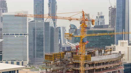 architectural protection : Construction site in Dubai timelapse, United Arab Emirates