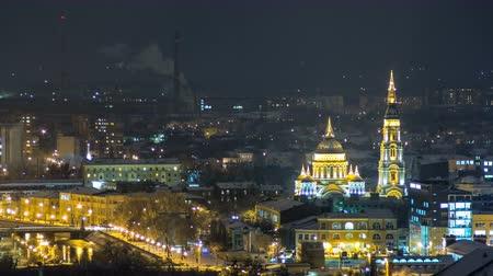 православие : The Annunciation Cathedral day to night timelapse, Kharkov, Ukraine.