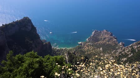 amalfi : Beautiful nature of Capri island at summer, Italy Stock Footage