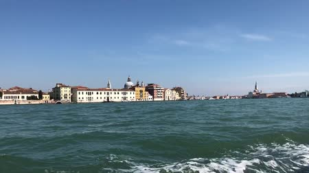 maria : Venice water front with Giudecca and San Giorgio island view from ship, Venice, Italy Vídeos