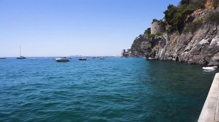 amalfi : Tyrrhenian Sea waters near Positano, Amalfi coast Italy