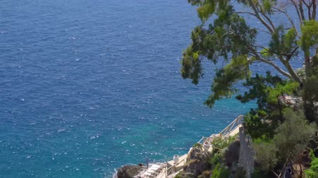 amalfitana : Tyrrhenian Sea coast aerial view , Amalfitana coast of Italy Stock Footage