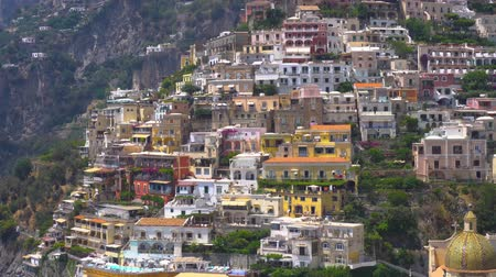 amalfi : Positano town houses on the rock - famous old italian resort, Italy