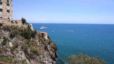 amalfitana : Tyrrhenian Sea coast view - sea water and nature , Amalfitana coast of Italy