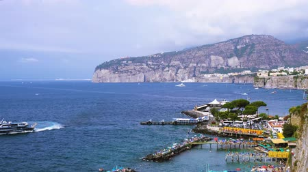 positano : embankment and beach of Sorrento, southern Italy