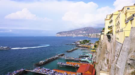 amalfi coast : embankment and beach of Sorrento at summer, southern Italy
