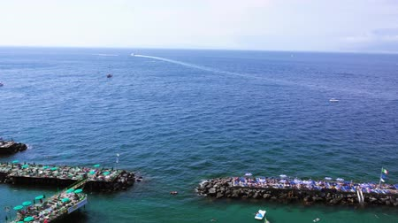 amalfi : coast of of Sorrento at summer, southern Italy Stock Footage