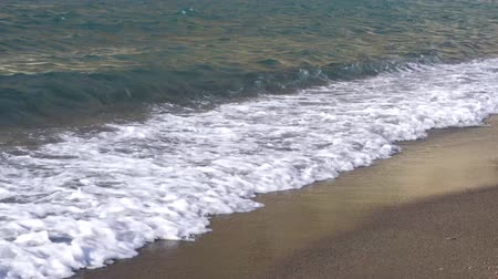 amalfitana : Clean sea water with waves at amalfitana beach, Italy