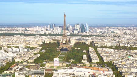 eifel : view Eiffel Tower landmark and Paris cityscape from above, Paris France