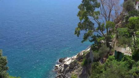 amalfi : Tyrrhenian Sea summer coast view, Amalfitana coast of Italy