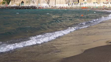 amalfi : beach and bay of Meta di Sorrento at summer day, southern Italy
