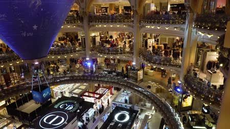 lafayette : PARIS, FRANCE - OCTOBER 05, 2017: People shopping in Gallery Lafayette, famous Paris shop France