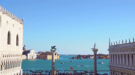 palazzo : view San Marco square and San Giorgio island from above, Venice, Italy