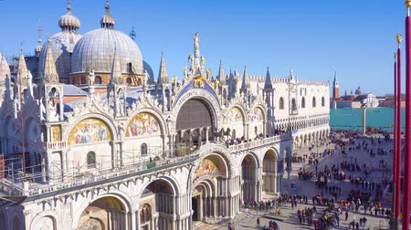 cathedral church and square of San Marco, Venice, Italy
