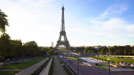 eifel : Eiffel Tower and Trocadero gardens, Paris, France