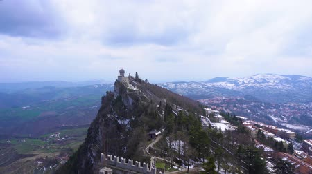 San Marino historical castle fortress on Mount Titano