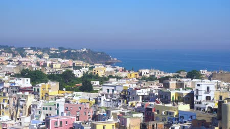 Procida island with colorful houses and the sea, Italy