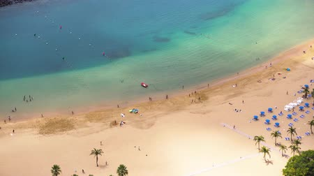 north bay : aerial view of Las Teresitas beach, Tenerife