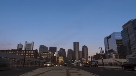электричество : Timelapse overlooking the skyline of Boston, Massachusetts, United States