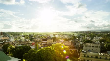 port n : aerial of mahebourg mauritius Stock Footage