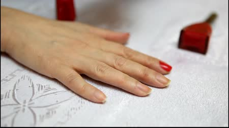 хлопок : Modern manicure treatments Стоковые видеозаписи