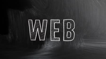 website : chalkboard with web concept