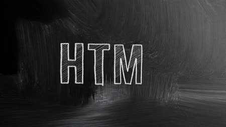 web sites : html sign written with chalk on blackboard