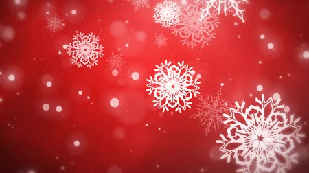 holidays : Christmas Flakes Red looped Stock Footage
