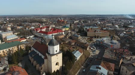 Aerial View - Small City at Sambor Ukraine