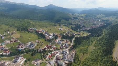 Aerial: shot of mountain side. Ukraine Vídeos