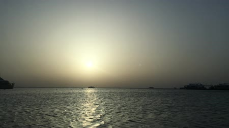 Beautiful sunset over egypt