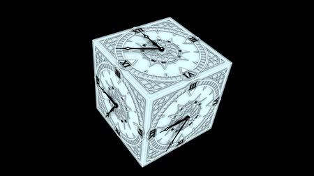 gotik : Gothic Cube Clock Countdown From 10 to 0 Animation Stok Video