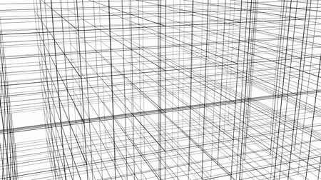 estruturas : Abstract Structure Grid Animation On White Background