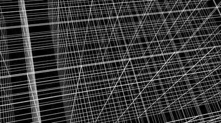 planos : Abstract Structure Grid Animation On Black Background Stock Footage