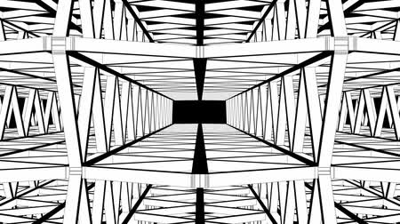 trójkąt : Abstract Structure Animation Through Construction