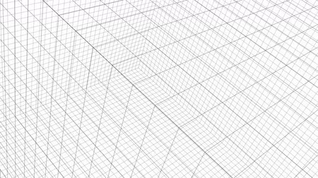 planos : Structure Grid Animation On White Background Stock Footage