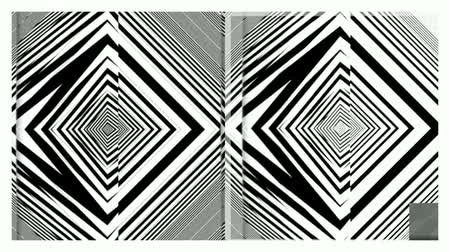 paralelo : Hypnotic Rhythmic Movement Black And White Shapes. Ideal use for advertising Ads Vídeos