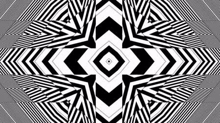 opção : Hypnotic Rhythmic Movement Black And White Shapes
