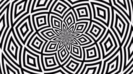 paralelo : Hypnotic Rhythmic Movement Black And White Shapes
