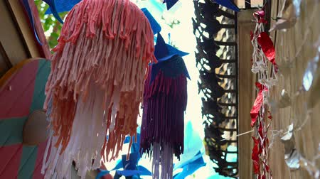 sea creatures : jellyfish. Street decor made from recycled fabric and clothing