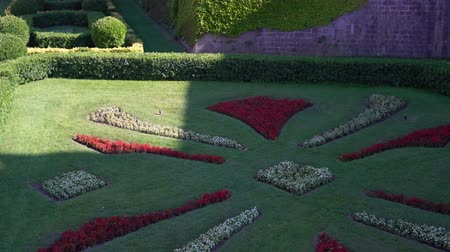 муниципальный : flowerbed near the medieval fortress