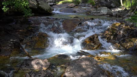 jihozápad : fast mountain stream with clear water. Mountain stream flows among the stones