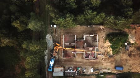 Aerial shot of home construction