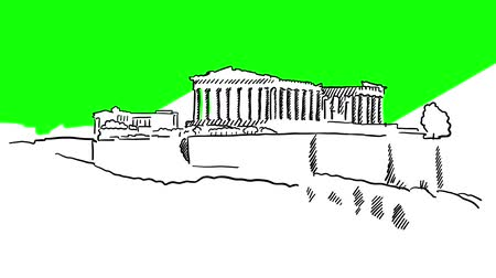 öykü : Acropolis Hill, Greece, Sketched Motion Sequence, 5 seconds buildup and teardown 5 sec